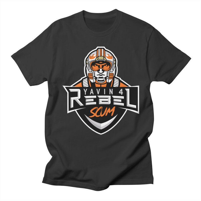 Yavin 4 Rebel Scum Men's Regular T-Shirt by Chicago Bruise Brothers Roller Derby