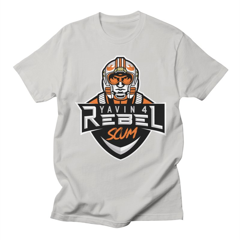 Yavin 4 Rebel Scum Men's Regular T-Shirt by Chicago Bruise Brothers Roller Derby