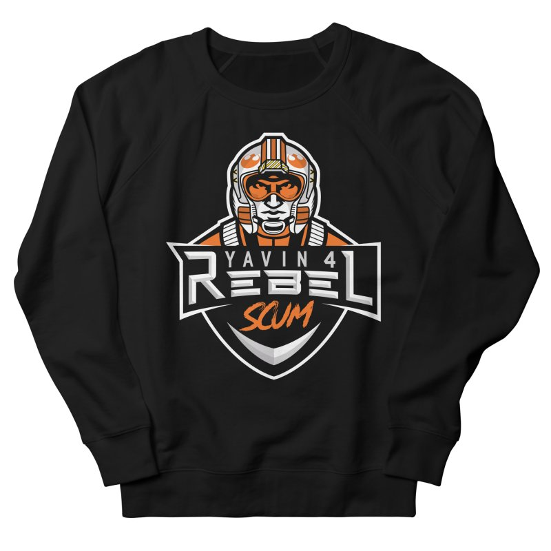 Yavin 4 Rebel Scum Men's French Terry Sweatshirt by Chicago Bruise Brothers Roller Derby