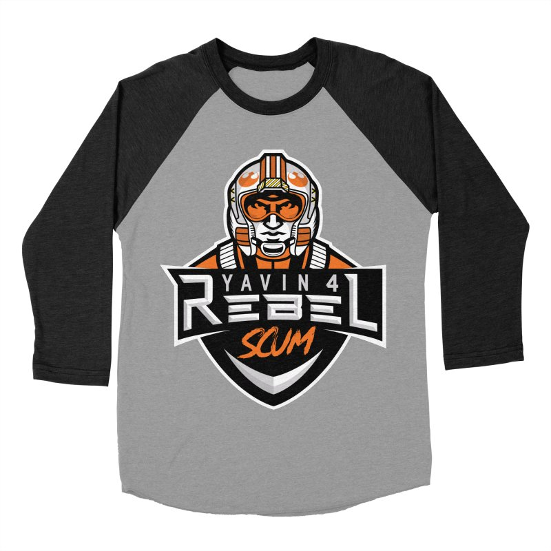 Yavin 4 Rebel Scum Women's Baseball Triblend Longsleeve T-Shirt by Chicago Bruise Brothers Roller Derby