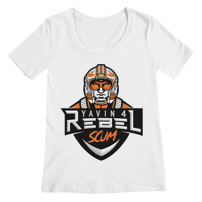 Yavin 4 Rebel Scum Women's Regular Scoop Neck by Chicago Bruise Brothers Roller Derby