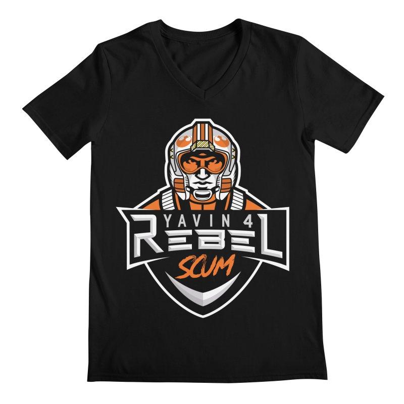 Yavin 4 Rebel Scum Men's Regular V-Neck by Chicago Bruise Brothers Roller Derby