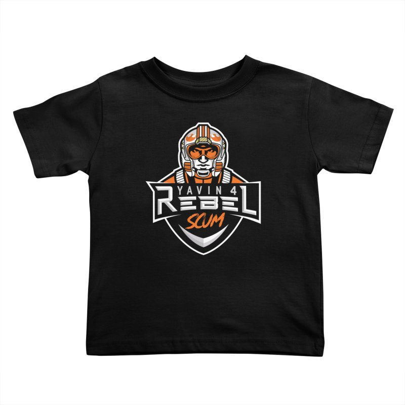 Yavin 4 Rebel Scum Kids Toddler T-Shirt by Chicago Bruise Brothers Roller Derby