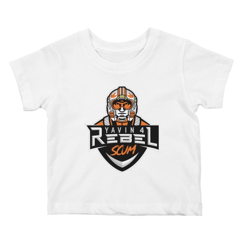 Yavin 4 Rebel Scum Kids Baby T-Shirt by Chicago Bruise Brothers Roller Derby
