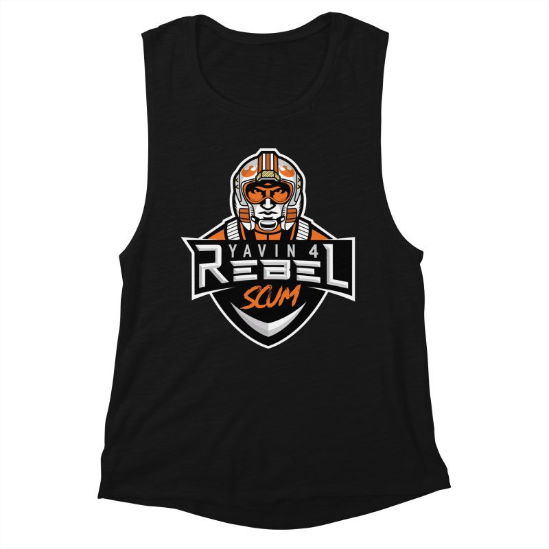Yavin 4 Rebel Scum Women's Tank by Chicago Bruise Brothers Roller Derby