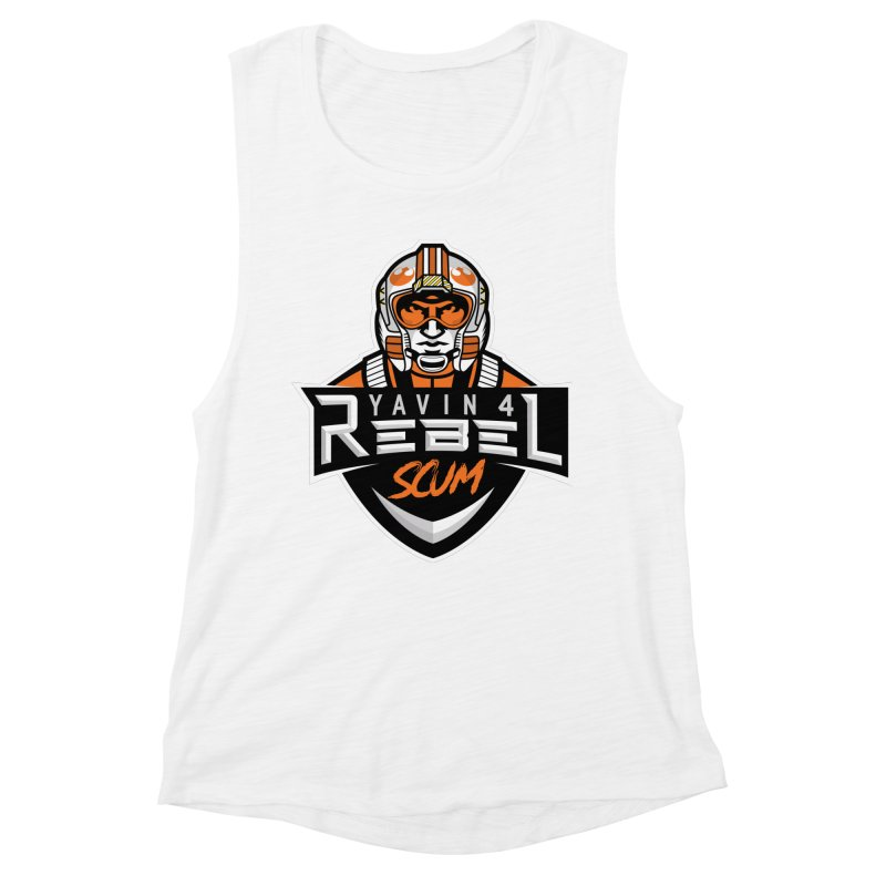 Yavin 4 Rebel Scum Women's Muscle Tank by Chicago Bruise Brothers Roller Derby