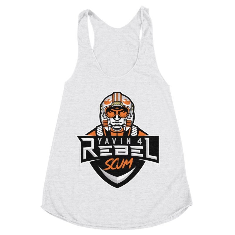 Yavin 4 Rebel Scum Women's Racerback Triblend Tank by Chicago Bruise Brothers Roller Derby