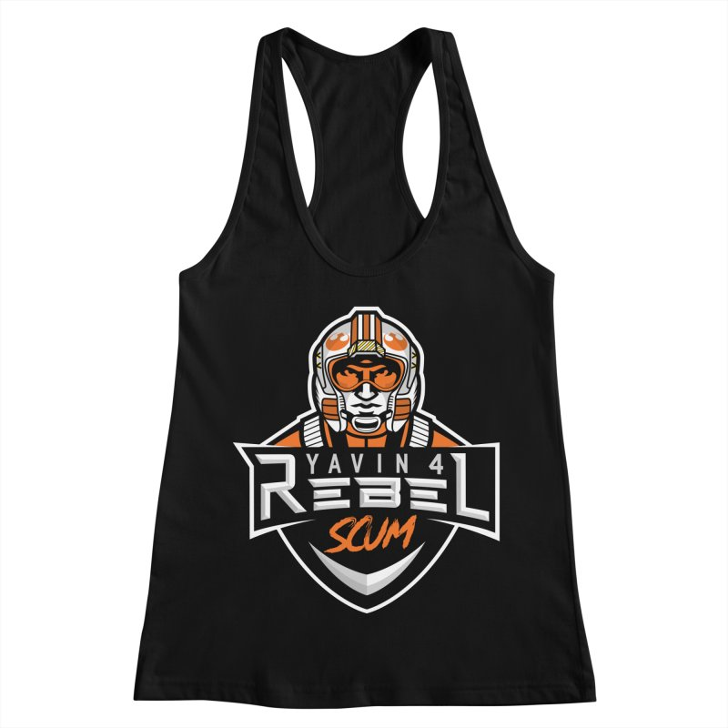 Yavin 4 Rebel Scum Women's Racerback Tank by Chicago Bruise Brothers Roller Derby