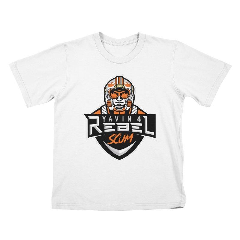 Yavin 4 Rebel Scum Kids T-Shirt by Chicago Bruise Brothers Roller Derby