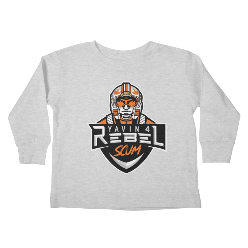 Yavin 4 Rebel Scum Kids Toddler Longsleeve T-Shirt by Chicago Bruise Brothers Roller Derby