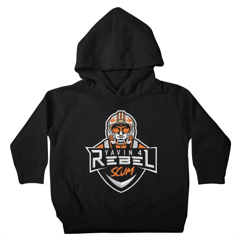 Yavin 4 Rebel Scum Kids Toddler Pullover Hoody by Chicago Bruise Brothers Roller Derby