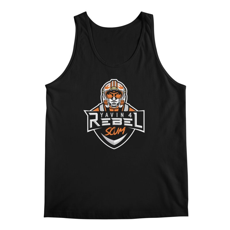 Yavin 4 Rebel Scum Men's Regular Tank by Chicago Bruise Brothers Roller Derby