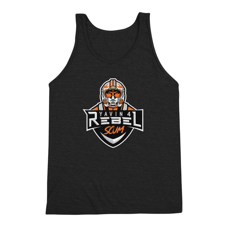 Yavin 4 Rebel Scum Men's Triblend Tank by Chicago Bruise Brothers Roller Derby