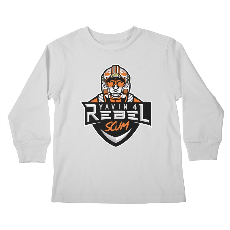 Yavin 4 Rebel Scum Kids Longsleeve T-Shirt by Chicago Bruise Brothers Roller Derby