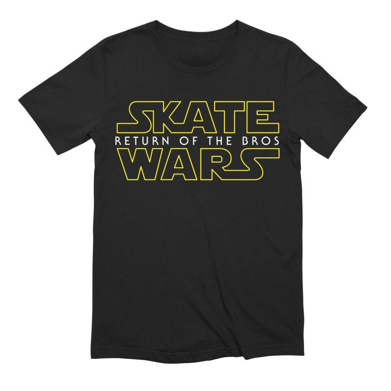 Skate Wars in Men's Extra Soft T-Shirt Black by Chicago Bruise Brothers Roller Derby