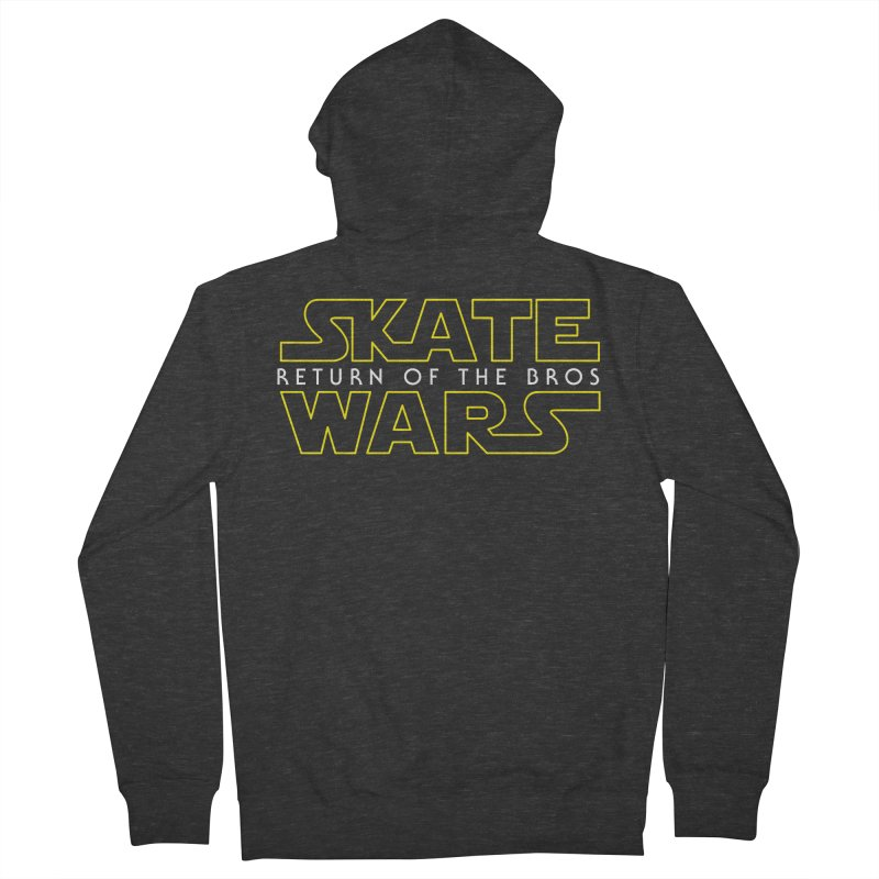 Skate Wars Men's French Terry Zip-Up Hoody by Chicago Bruise Brothers Roller Derby
