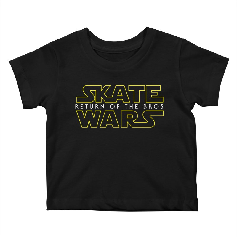 Skate Wars Kids Baby T-Shirt by Chicago Bruise Brothers Roller Derby
