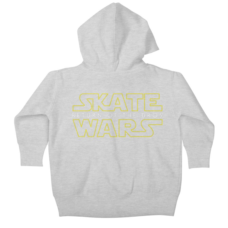 Skate Wars Kids Baby Zip-Up Hoody by Chicago Bruise Brothers Roller Derby