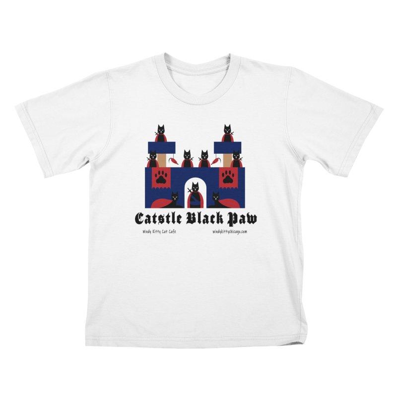 Catstle Black Paw Kids T-Shirt by Chicago Cat Chicks Cat Merch!