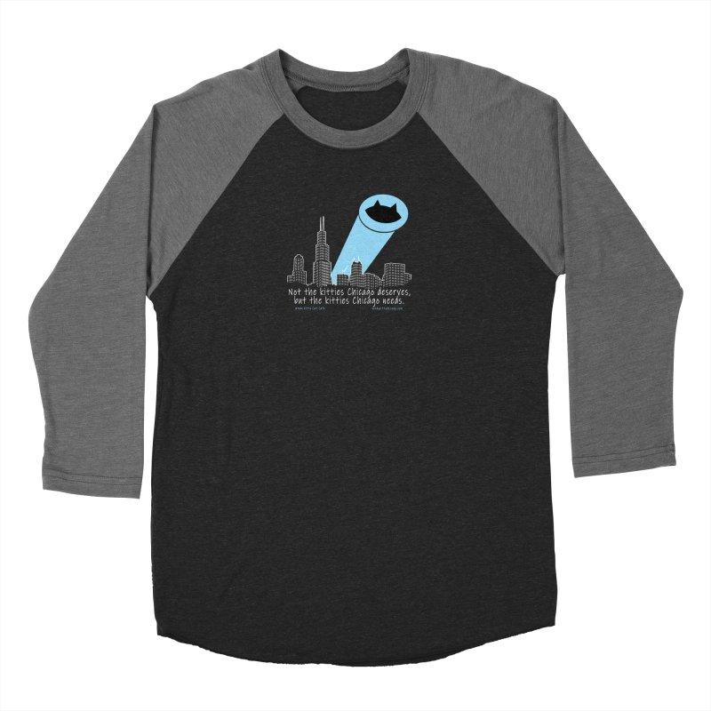 Cat Signal Men's Longsleeve T-Shirt by Chicago Cat Chicks Cat Merch!