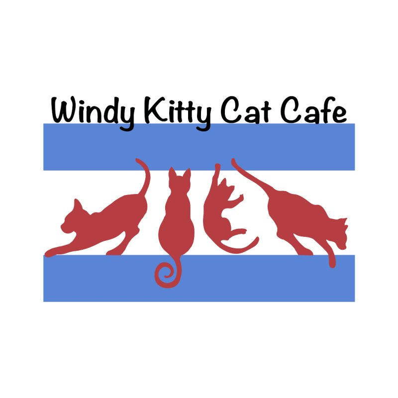 Chicago Cat Flag Women's T-Shirt by Chicago Cat Chicks Cat Merch!
