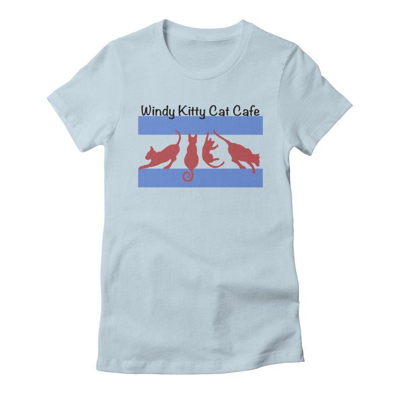 Chicago Cat Flag Women's T-Shirt by Chicago Cat Chicks Cat Merch!