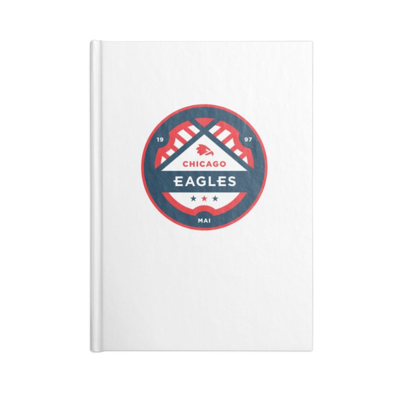 Chicago Eagles Crest Accessories Blank Journal Notebook by Chicago Eagles