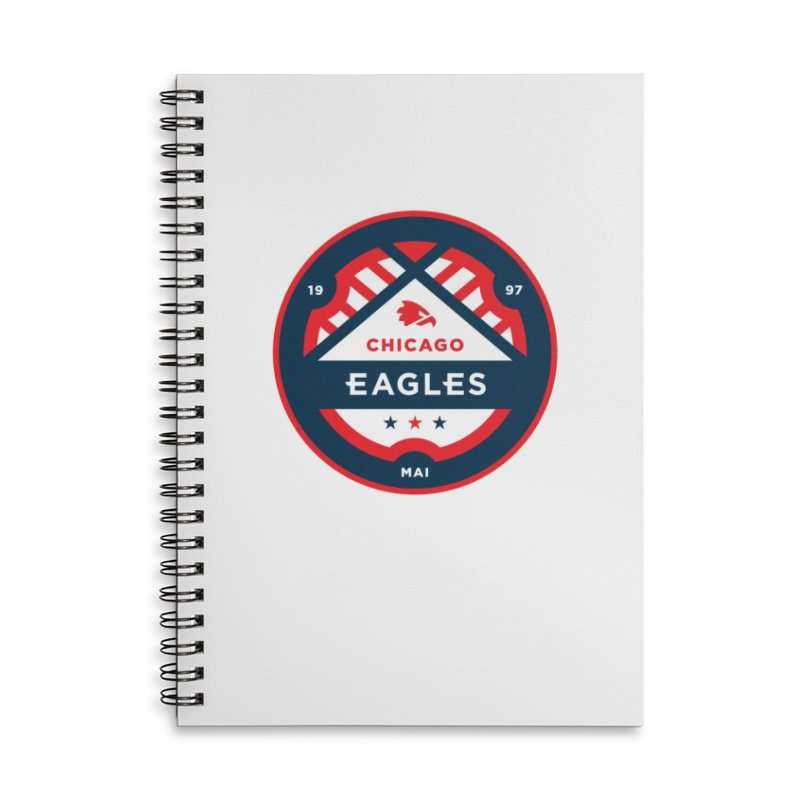 Chicago Eagles Crest Accessories Lined Spiral Notebook by Chicago Eagles
