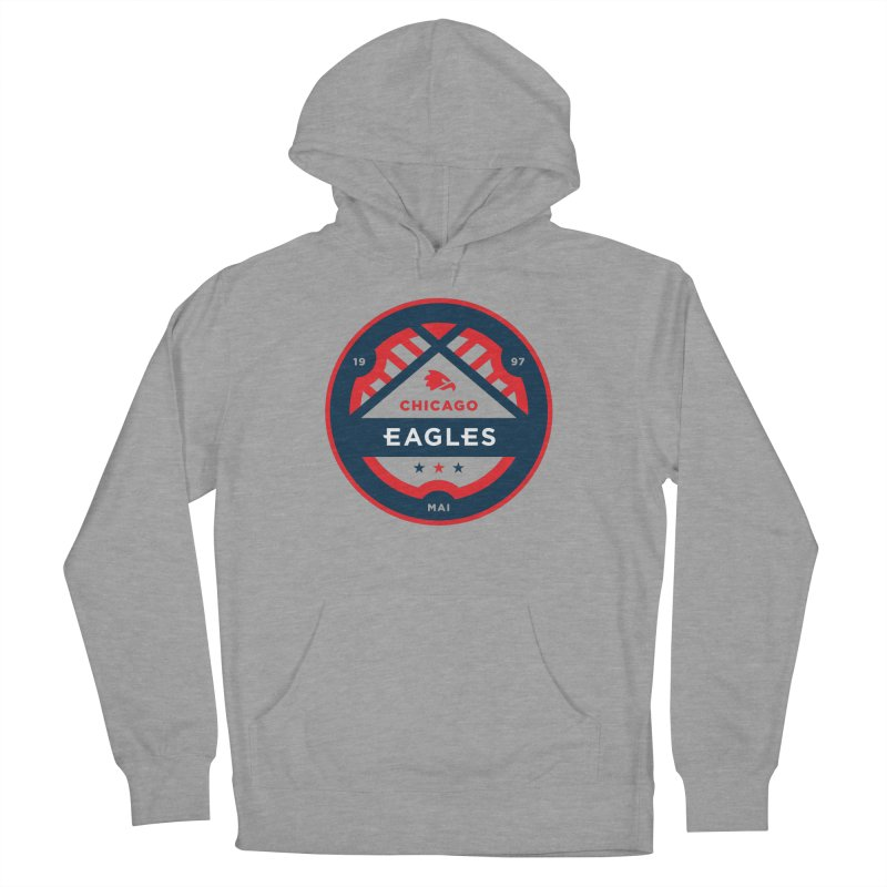 Chicago Eagles Crest Men's French Terry Pullover Hoody by Chicago Eagles