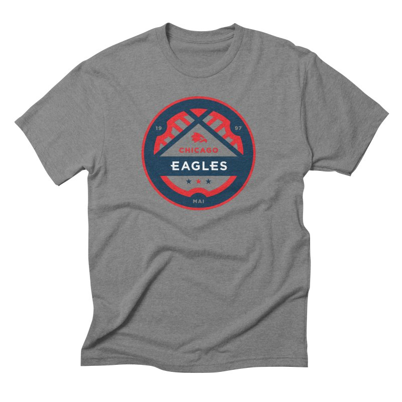 Chicago Eagles Crest Men's Triblend T-Shirt by Chicago Eagles
