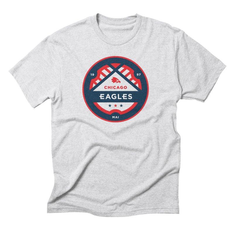 Chicago Eagles Crest Men's Triblend T-Shirt by Chicago Eagles