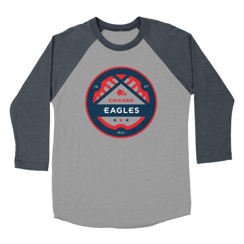 Chicago Eagles Crest Men's Baseball Triblend Longsleeve T-Shirt by Chicago Eagles