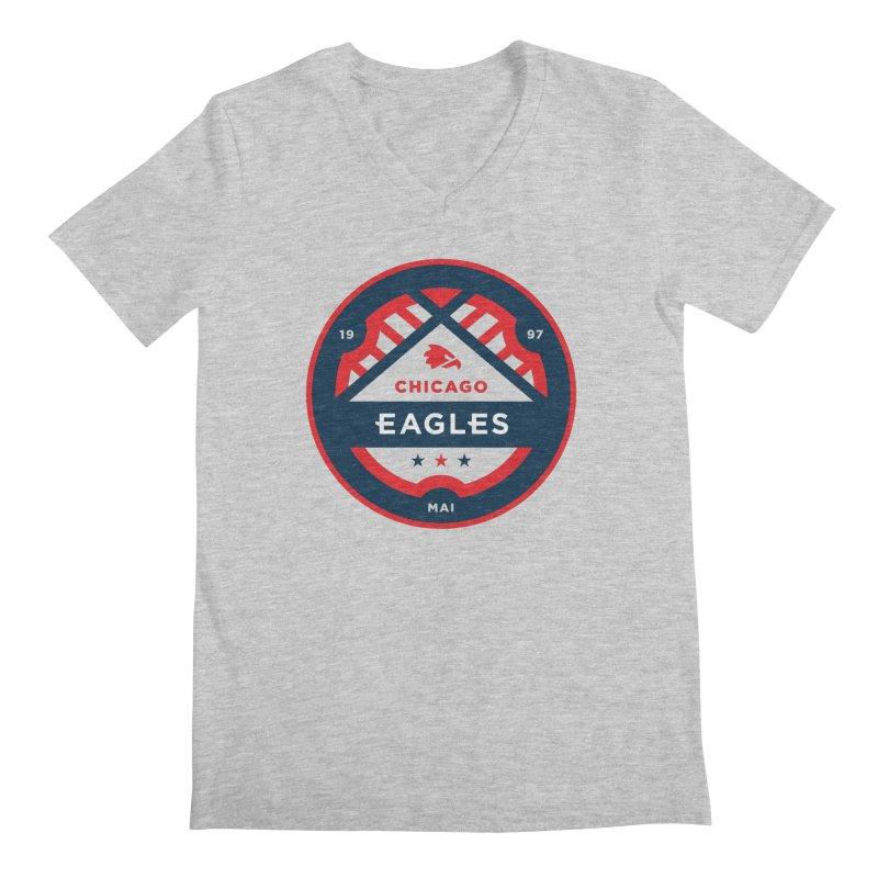 Chicago Eagles Crest Men's Regular V-Neck by Chicago Eagles