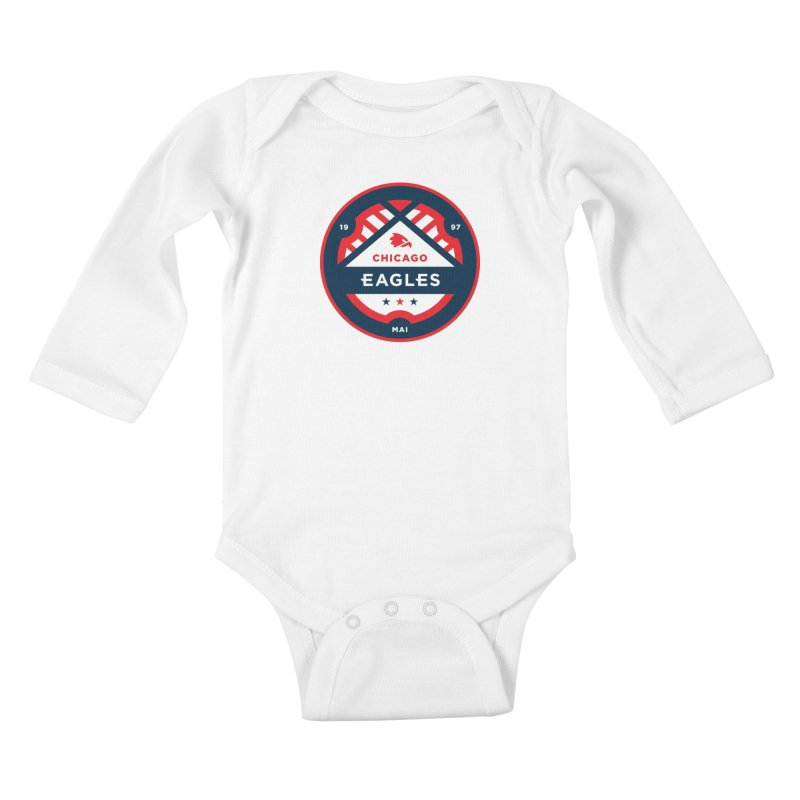 Chicago Eagles Crest Kids Baby Longsleeve Bodysuit by Chicago Eagles