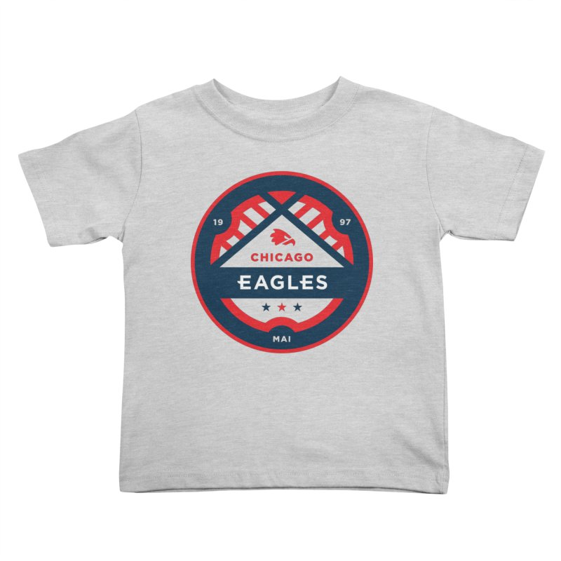 Chicago Eagles Crest Kids Toddler T-Shirt by Chicago Eagles