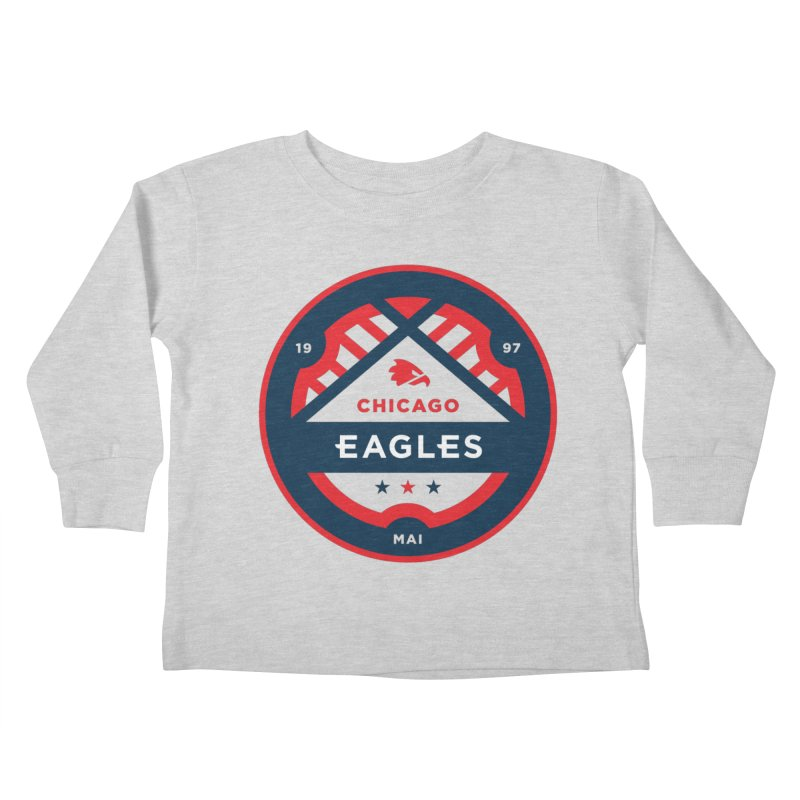 Chicago Eagles Crest Kids Toddler Longsleeve T-Shirt by Chicago Eagles