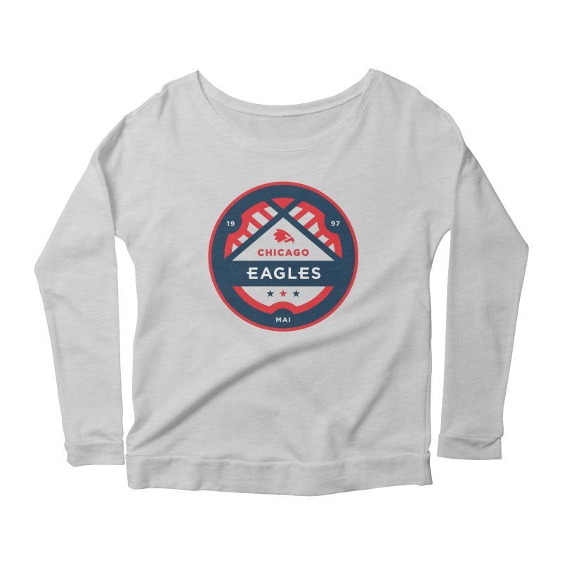 Chicago Eagles Crest Women's Scoop Neck Longsleeve T-Shirt by Chicago Eagles