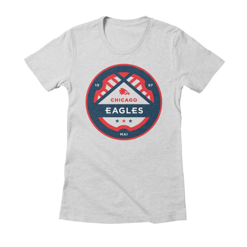 Chicago Eagles Crest Women's Fitted T-Shirt by Chicago Eagles