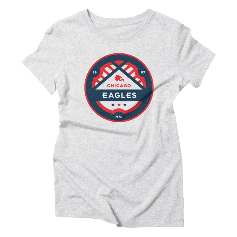 Chicago Eagles Crest Women's Triblend T-Shirt by Chicago Eagles