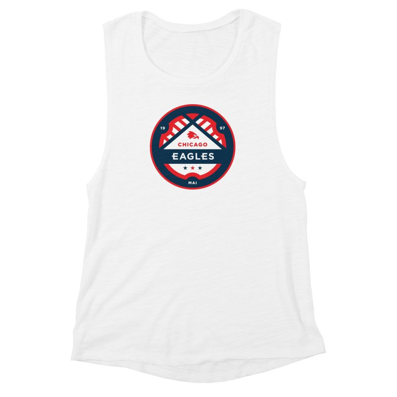 Chicago Eagles Crest Women's Muscle Tank by Chicago Eagles