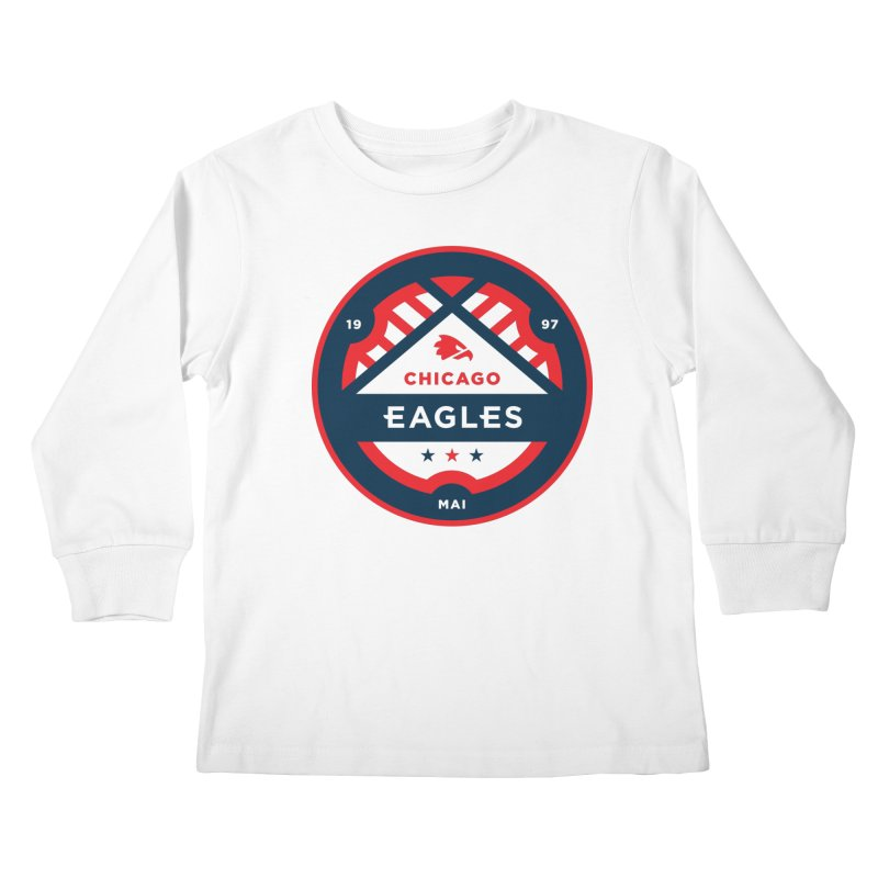 Chicago Eagles Crest Kids Longsleeve T-Shirt by Chicago Eagles
