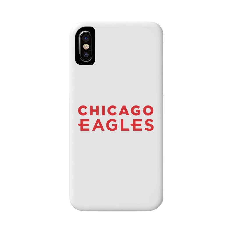 Red Wordmark Accessories Phone Case by Chicago Eagles
