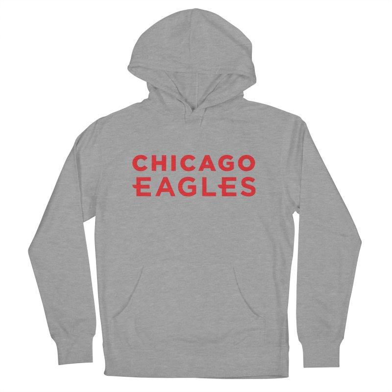 Red Wordmark Men's French Terry Pullover Hoody by Chicago Eagles