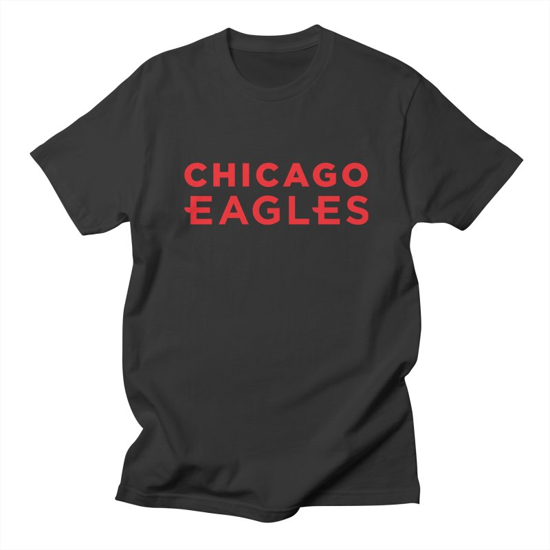 Red Wordmark Men's Regular T-Shirt by Chicago Eagles