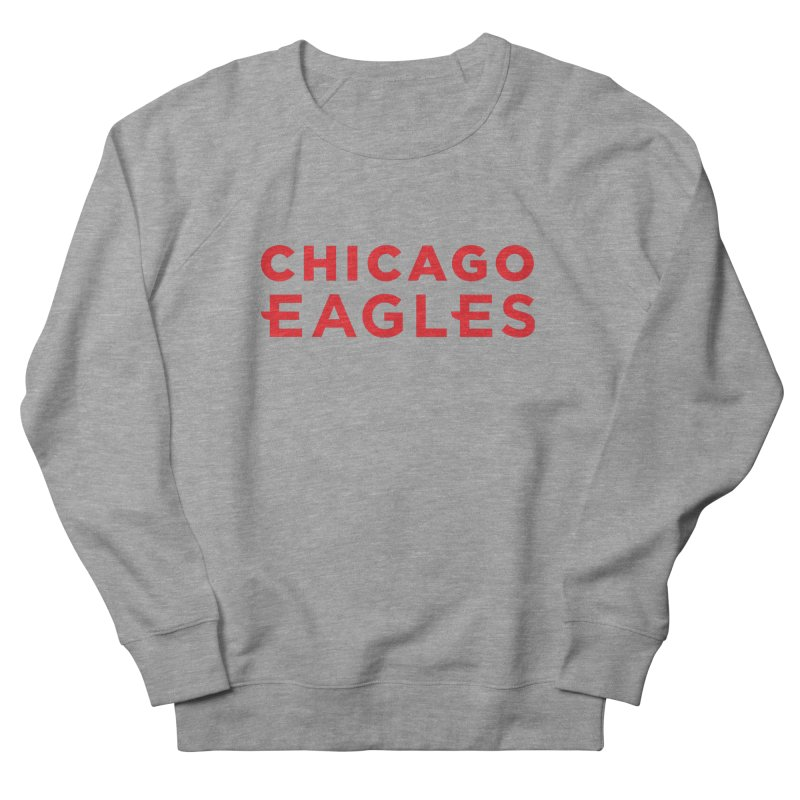 Red Wordmark Men's French Terry Sweatshirt by Chicago Eagles