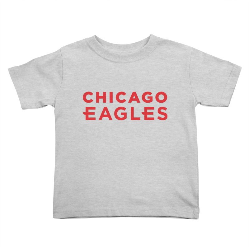 Red Wordmark Kids Toddler T-Shirt by Chicago Eagles