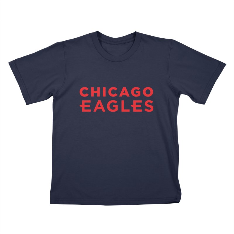 Red Wordmark Kids T-Shirt by Chicago Eagles