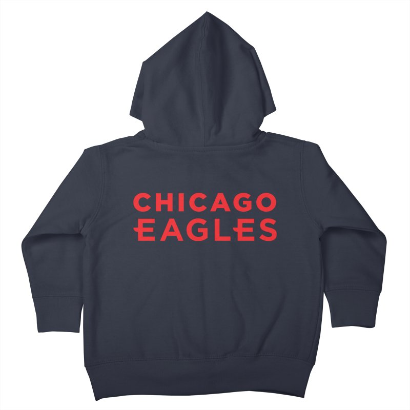 Red Wordmark Kids Toddler Zip-Up Hoody by Chicago Eagles