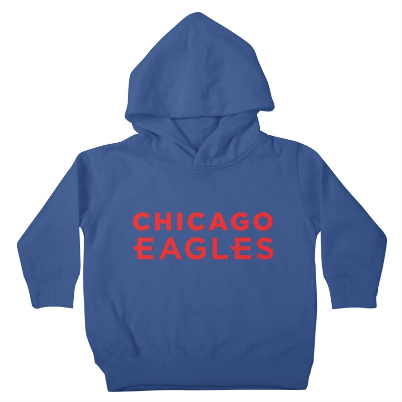 Red Wordmark Kids Toddler Pullover Hoody by Chicago Eagles