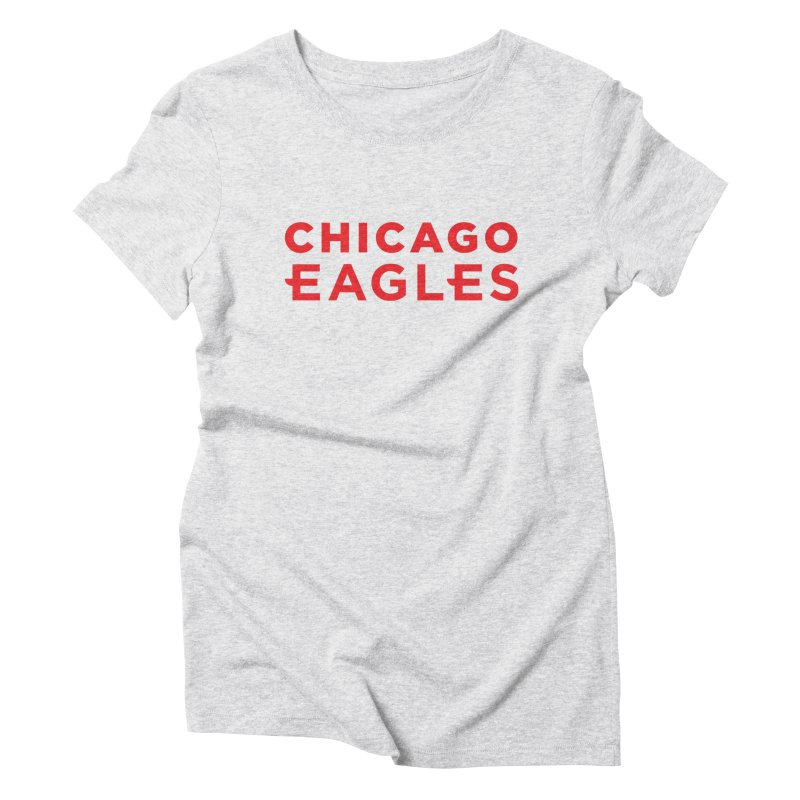 Red Wordmark Women's Triblend T-Shirt by Chicago Eagles